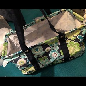 Large floral Thirty-one utility tote